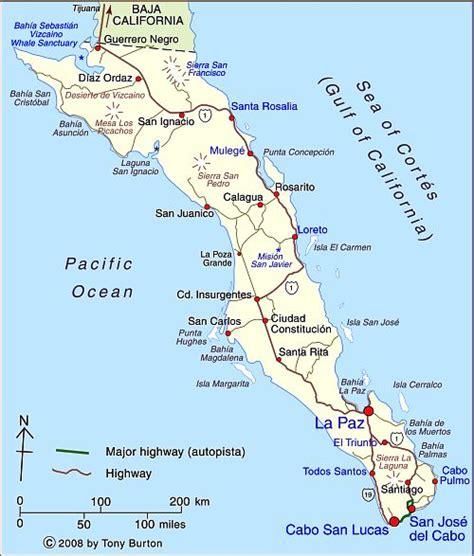 map of mexico baja moriarty baja california sur