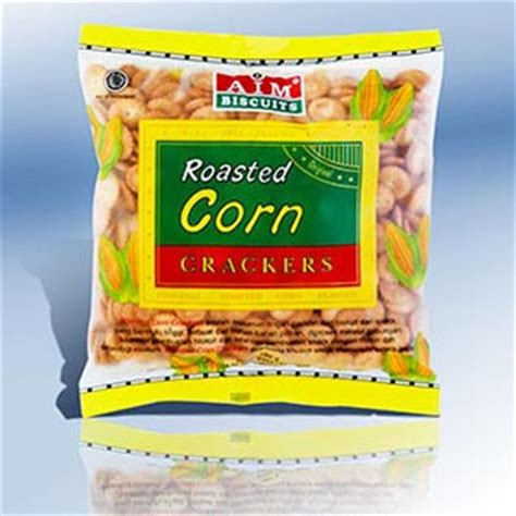 aim crackers roasted corn 180 gram roasted corn crackers citra sukses international