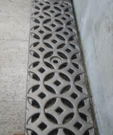 decorative drain grate by iron age design cast metal grates