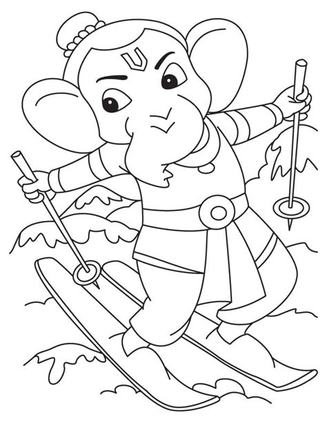 printable ganesh images lord ganesha for colouring download free lord ganesha