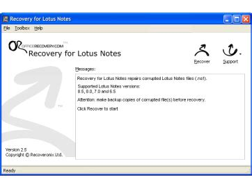 recovery for lotus notes free and software