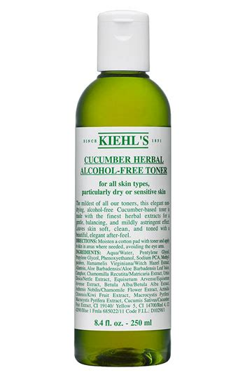 Toner Kiehl S kiehl s cucumber herbal free toner review