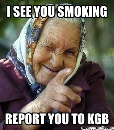 Smoking Meme - no smoking babushka