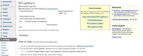 tutorial lightbox wordpress wp lightbox 2 plugin how to click to enlarge images on