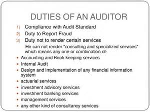 Auditor Duties by Company Auditor Ppt