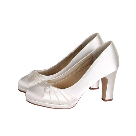 ivory satin shoes rainbow club dyeable ivory satin wide fit bridal