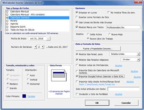 Calendario Word Creador De Calendario Para Word Y Excel