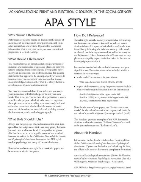 apa format handout business papers mla or apa to find a handout on a