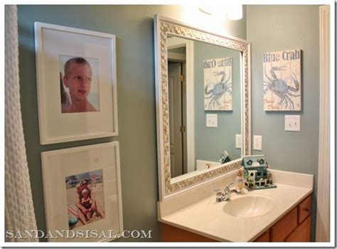 beach themed bathroom mirrors my boys beach themed bathroom