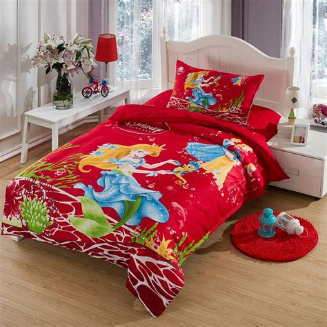 little mermaid toddler bedding red little mermaid toddler bedding mygreenatl bunk beds