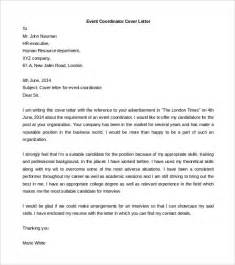 Business Letter For Event Management Free Cover Letter Template 52 Free Word Pdf Documents Free Premium Templates