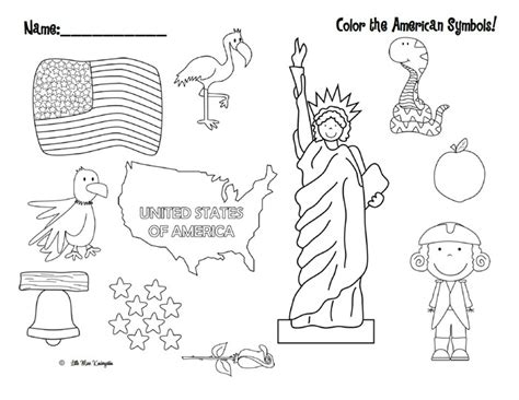 free coloring pages united states symbols quot color the american symbols quot free patriotic printable
