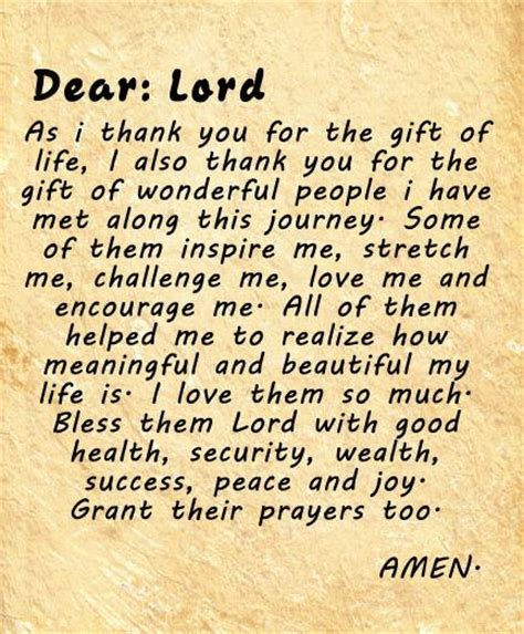 Thank You Letter To A Dear Dear Lord As I Thank You For The Gift Of I Also