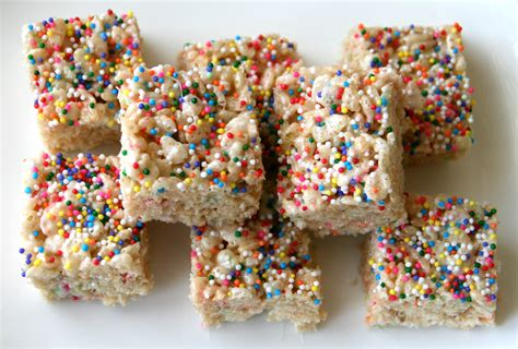 organic treat recipes funfetti rice krispies treats rice krispy treats with sprinkles recipe shockingly