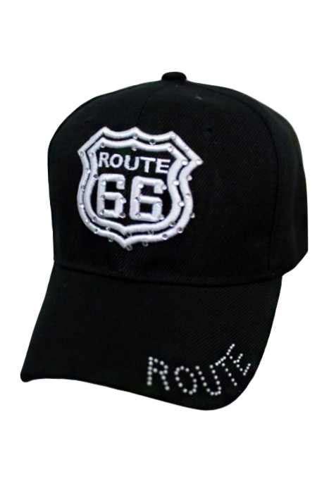 Studded Baseball Cap studded route 66 baseball cap