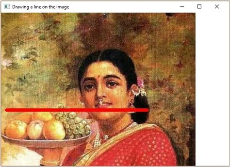 tutorialspoint opencv opencv drawing a line