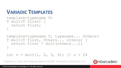 variadic templates c useful c features you should be using