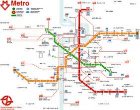 Metro System Map by Prague Czech Republic Metro Map Images