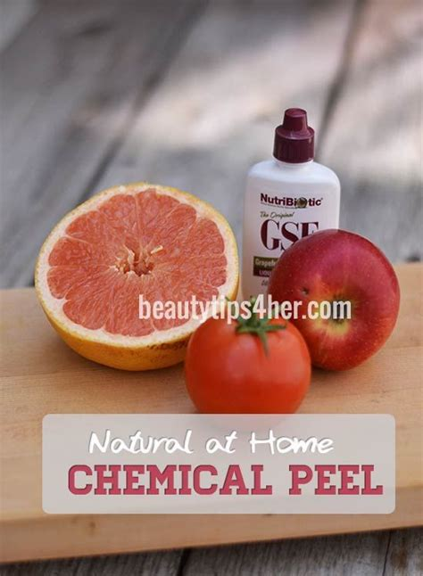 at home chemical peel look younger liquid