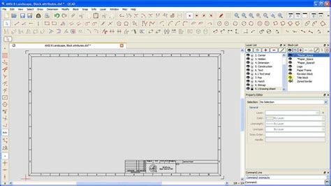 tutorial qcad youtube qcad tutorial q e drawing sheet templates with block