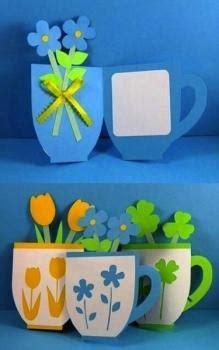 tarjetas en forma de taza manualidades reciclables tarjetas para el d 237 a de la madre paperblog