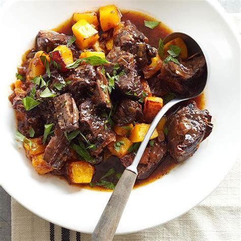 Rich Beef Stew With Bacon And Plums Recipe Gardens Better Homes And Gardens Vegetable Beef Soup