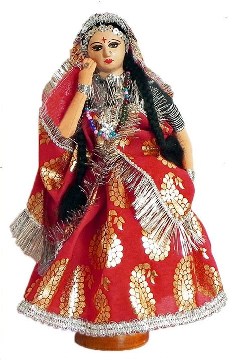 Handmade Indian Costume - indian handmade rajasthani doll indian made dolls