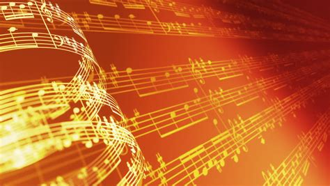 wallpaper gold music background of musical notes and globe stock footage video