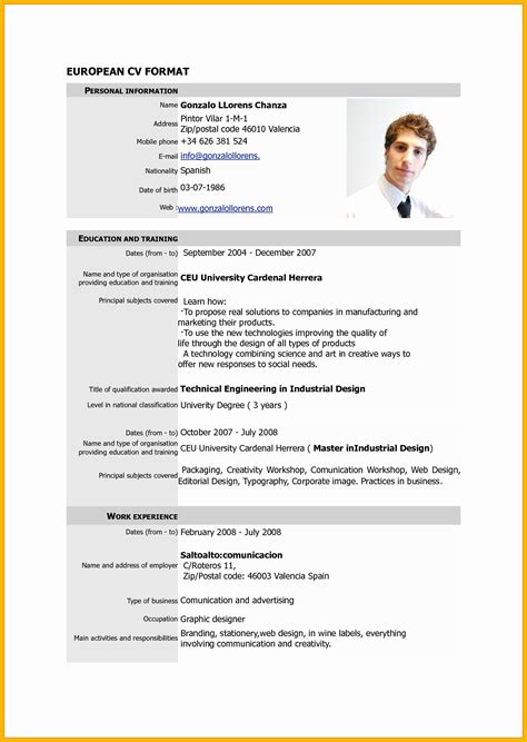 Curriculum Vitae Sle Format by Pdf Sle Resume 28 Images Pdf Resume Template Free 28