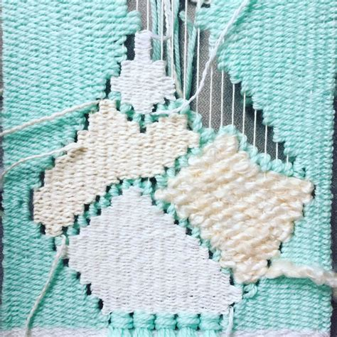 Ornamental Knotting And Weaving Of Thread - weaving in progress by catherine elizabeth of