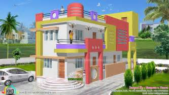 Indian Home Design Videos 1600 Sq Ft Colorful North Indian Home Kerala Home Design