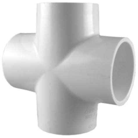 pipe 12 in x 4 in pvc dwv cross pvc 00410