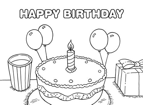 free coloring pages birthday party birthday coloing pages 15