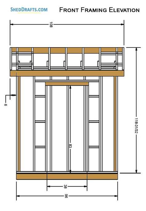 gable garden potting shed plans blueprints
