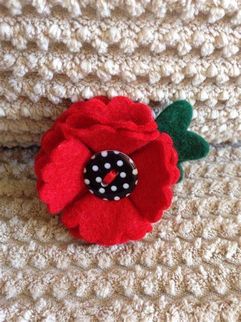 pattern for felt poppy felt poppy flower badge brooch 50 of poppy sales will