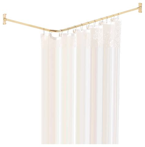 3 sided shower curtain rod 97252 shower curtain rod bright 2 sided shower solid