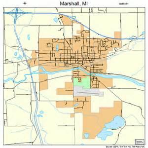 marshall map marshall michigan map 2651940