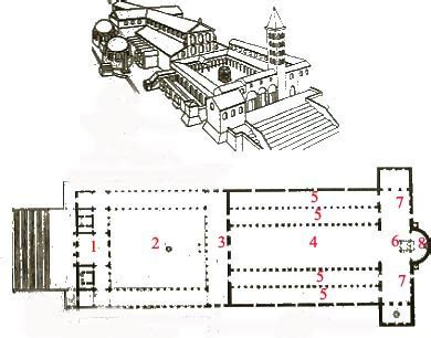 roman basilica floor plan the early christian basilica