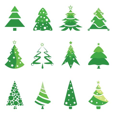 christmas tree logotype designs vector free stock vector