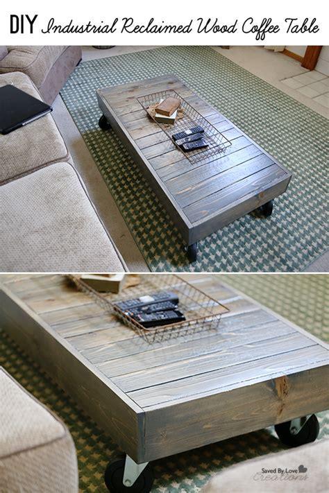 Diy Industrial Coffee Table Diy Industrial Reclaimed Wood Coffee Table
