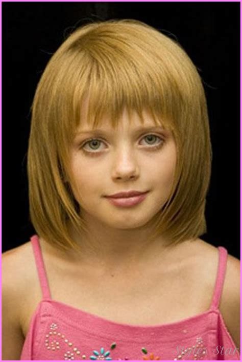 short hairstyles little girl little girl haircuts with bangs stylesstar com