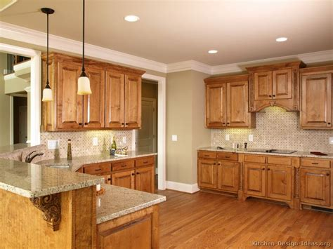 Kitchen Colors With Wood Cabinets | tuscan kitchen design style decor ideas