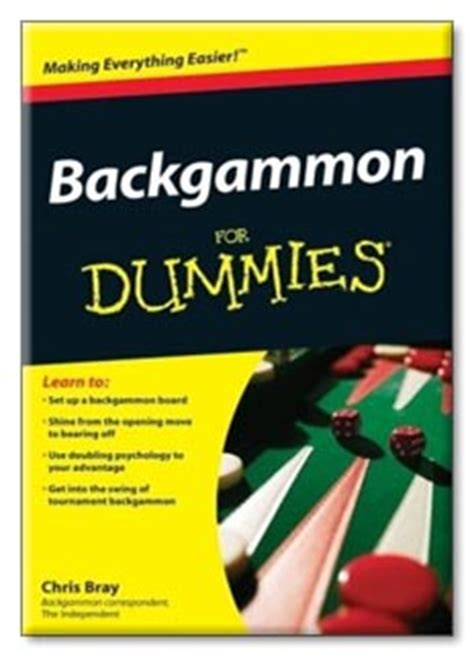 pattern recognition for dummies backgammon for dummies by chris bray