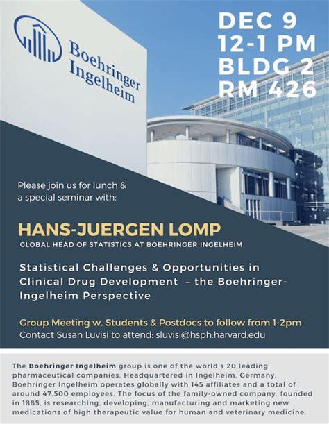 Boehringer Ingelheim Summer Internship Mba by Special Seminar With Boehringer Ingelheim Department Of