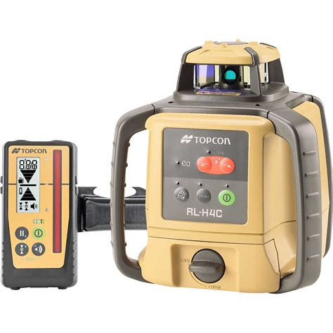 topcon rl h4c self leveling laser level with rechargeable