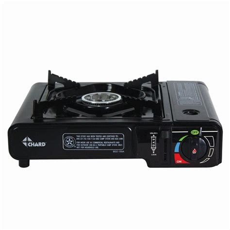 Winn Gas Kompor Gas Porteble Butane 1b chard 8 500 btu 1 burner gas butane stove in black sbbcs85 the home depot