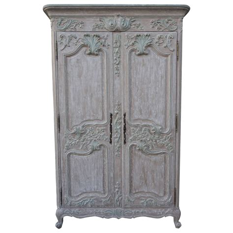 armoire french french louis xv style carved painted armoire melissa