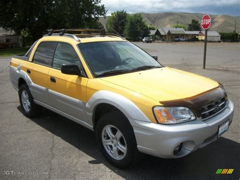 yellow subaru baja baja yellow 2003 subaru baja sport exterior photo