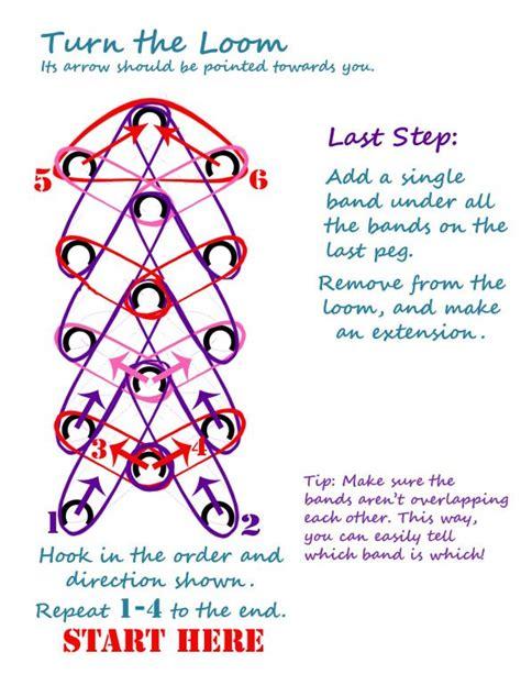 printable loom band directions rainbow loom heart bracelet written instructions