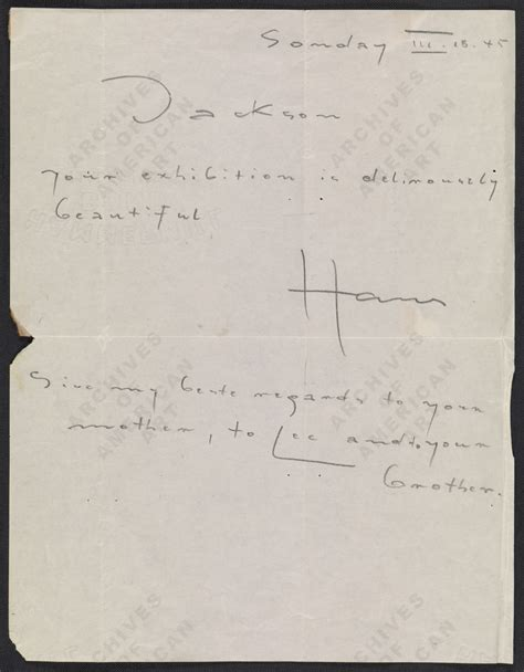 Pollock Krasner Grant Cover Letter Artifactual History 174 Appraisal And Antique Appraiser Northern Virginia